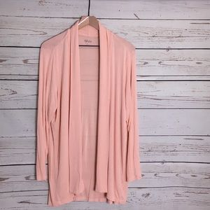 Style and Co. soft peach waterfall sweater